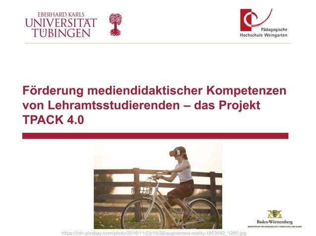 Förderung mediendidaktischer Kompetenzen von Lehramtsstudierenden – das Projekt TPACK 4.0 https://cdn.pixabay.com/photo/20...