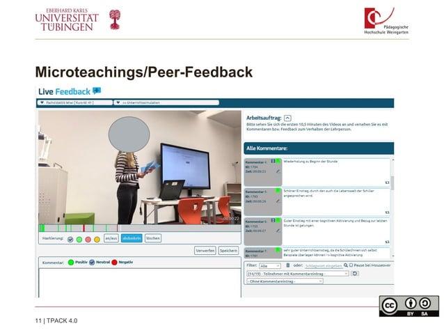 Microteachings/Peer-Feedback 11   TPACK 4.0