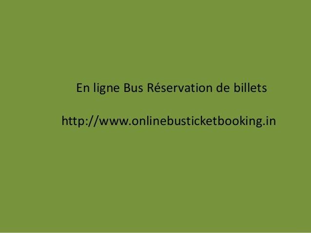 En ligne Bus Réservation de billets http://www.onlinebusticketbooking.in