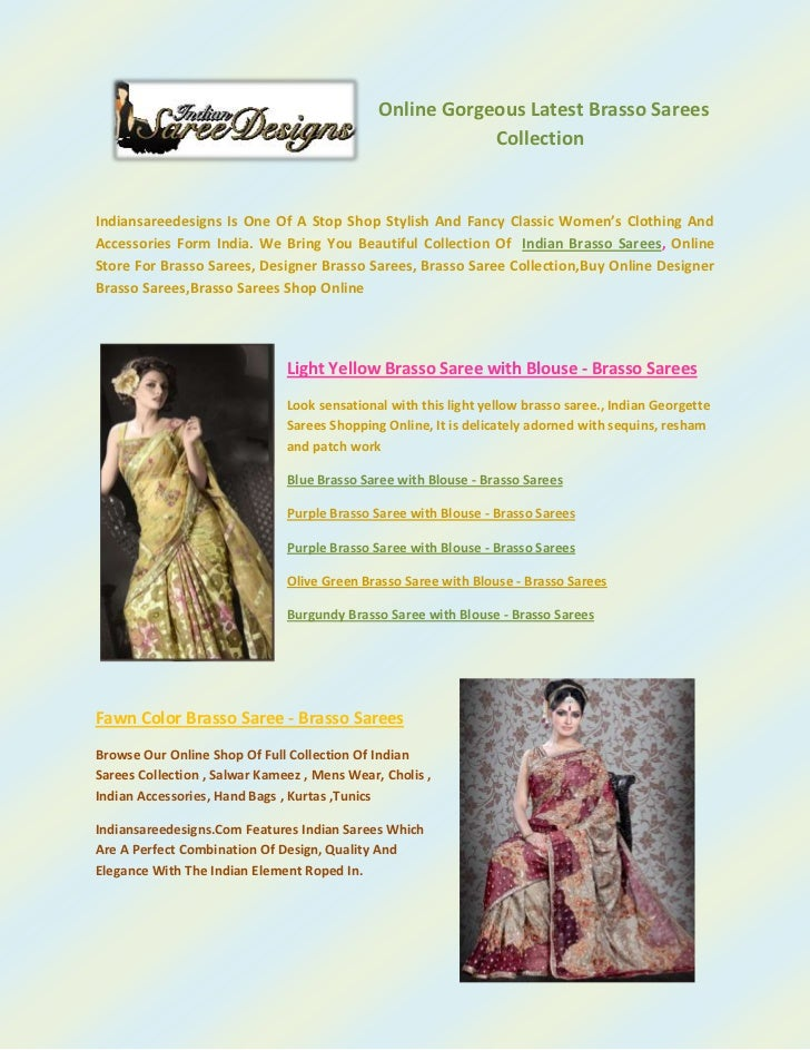 133350-190500Online Gorgeous Latest Brasso Sarees Collection<br />Indiansareedesigns Is One Of A Stop Shop Stylish And Fan...