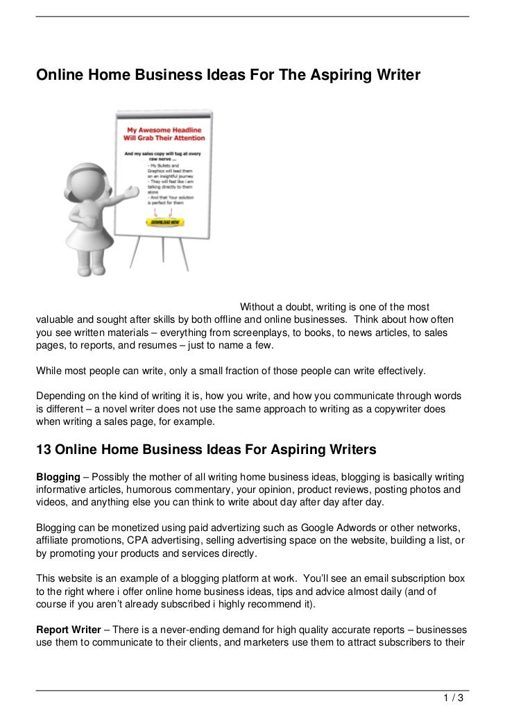 Online Home Business Ideas For The Aspiring Writer Jpg Cb