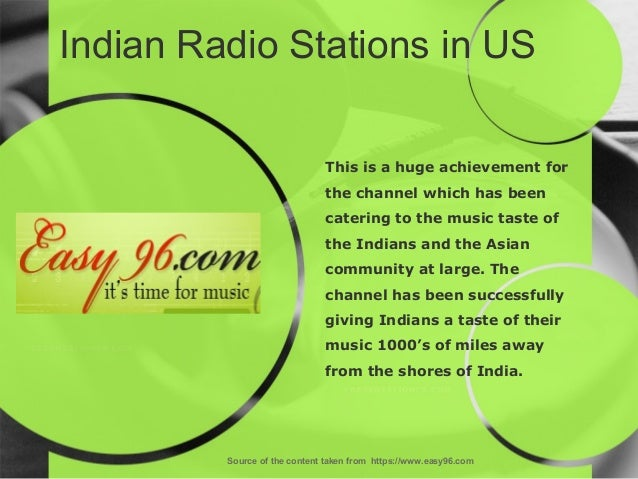 Indian Radio Stations in US Source of the content taken from https://www.easy96.com This is a huge achievement for the cha...