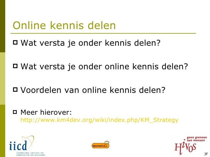 Online kennisdelen Slide 2