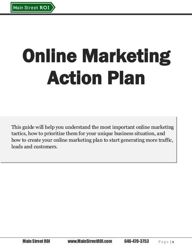 online marketing action plan
