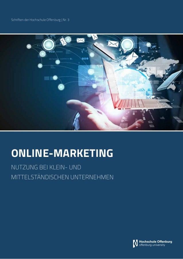 online-marketing nutzung bei klein- und mittelständischen Unternehmen Schriften der Hochschule Offenburg | Nr. 3