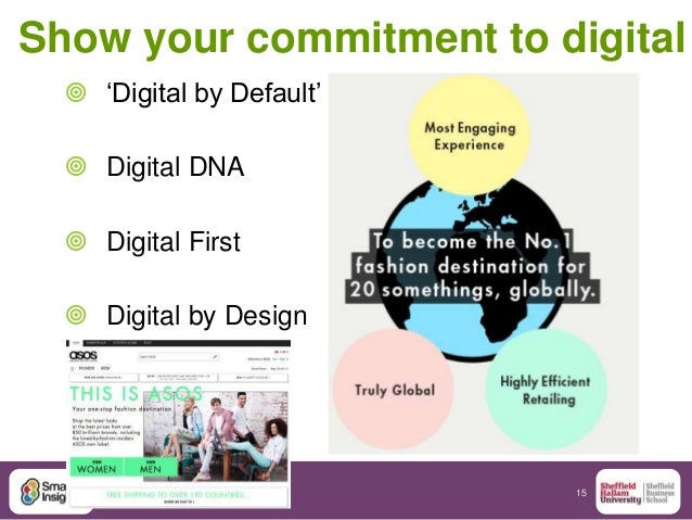 """15 Show your commitment to digital  """"Digital by Default""""  Digital DNA  Digital First  Digital by Design"""
