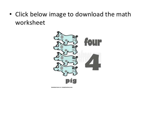 Free Online Math Worksheets for Kids with 4 Pigs – Free Online Math Worksheets