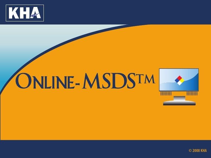 V    Online- MSDS         TM                            ........                            ........                      ...