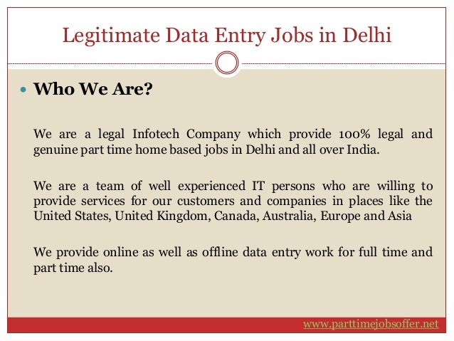 Top 25 Data Entry Jobs from Home OnlineOffline No Investment