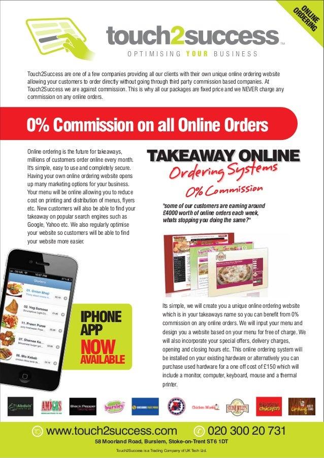 Online Ordering System Brochure