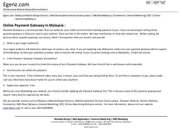 malaysia online payment gateways comparison The real cost of a subscription business: a payment gateway comparison  opportunity cost of online  startups utilise payment gateways and not.