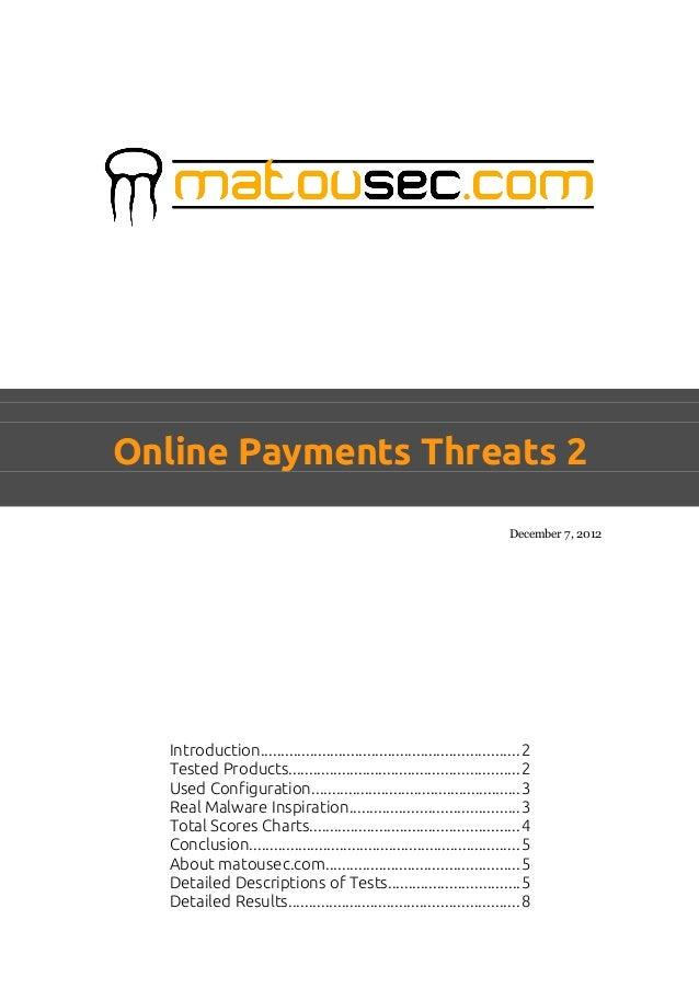 Online Payments Threats 2                                                                           December 7, 2012   Int...