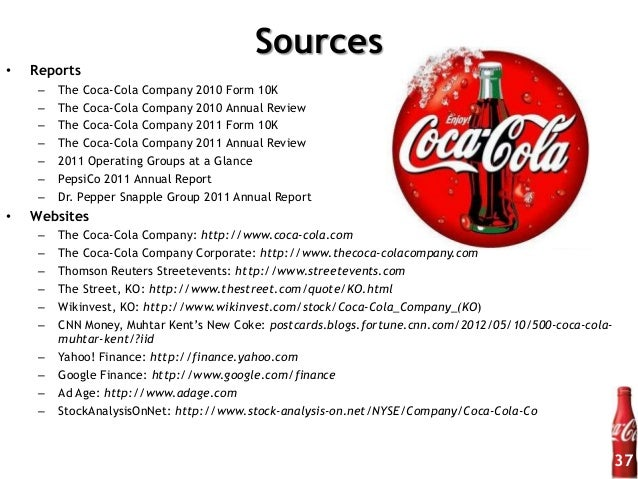 financial analysis of coca cola pdf