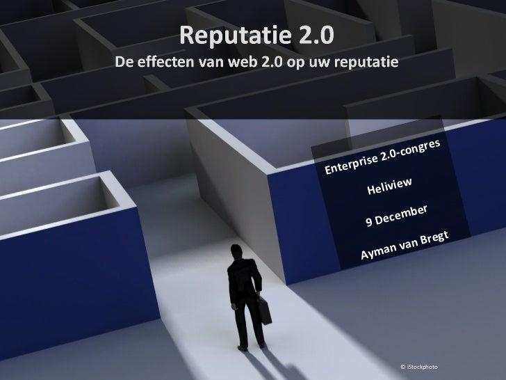 Enterprise 2.0-congres Heliview 9 December Ayman van Bregt © iStockphoto