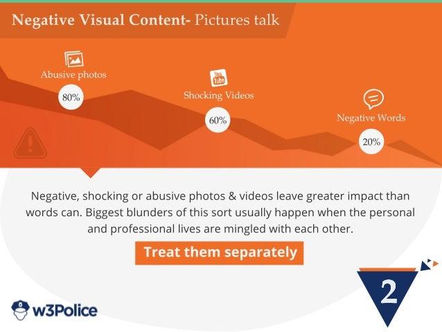 2 NegativeVisualContent-Picturestalk Negative,shockingorabusivephotos&videosleavegreaterimpactthan wordscan.Biggestblunder...
