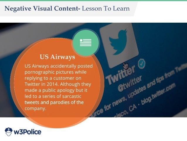 NegativeVisualContent-LessonToLearn USAirways USAirwaysaccidentallyposted pornographicpictureswhile replyingtoacustomeron ...
