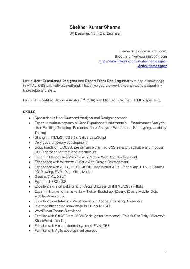 ui developer resume pdf