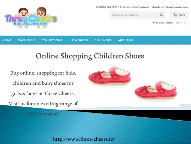 Kids shopping online