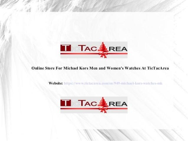 d4e389d112d8 Online Store For Michael Kors Men and Women s Watches At TicTacArea