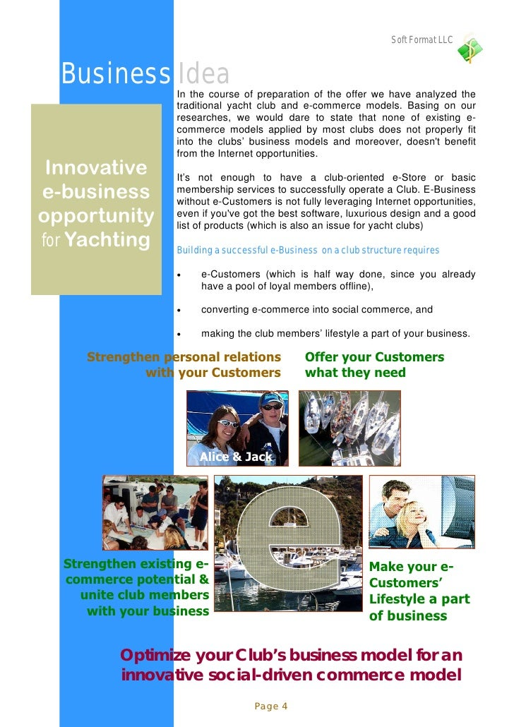 Soft Format LLC     Business Idea    In the course of preparation of the offer we have analyzed the                    tra...