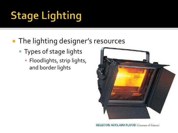 The lighting designeru0027s resources ? Types of stage lights ? Floodlights strip lights and border lights; 10.  sc 1 st  SlideShare & Online11 chapter 8