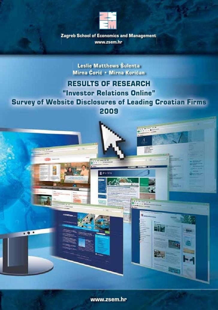 Zagreb School of Economics and Management                             www.zsem.hr                       Leslie Matthews Šu...
