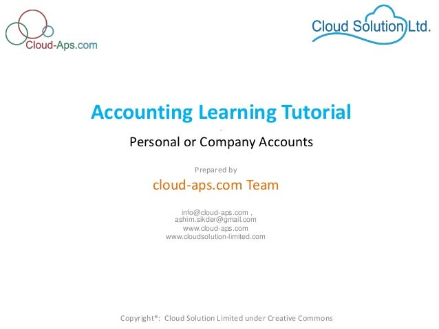 online cloud based accounting software for personal or small business