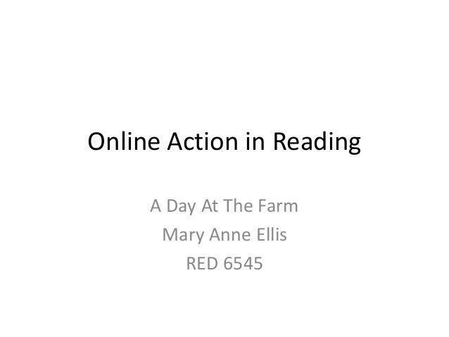 Online Action in Reading A Day At The Farm Mary Anne Ellis RED 6545