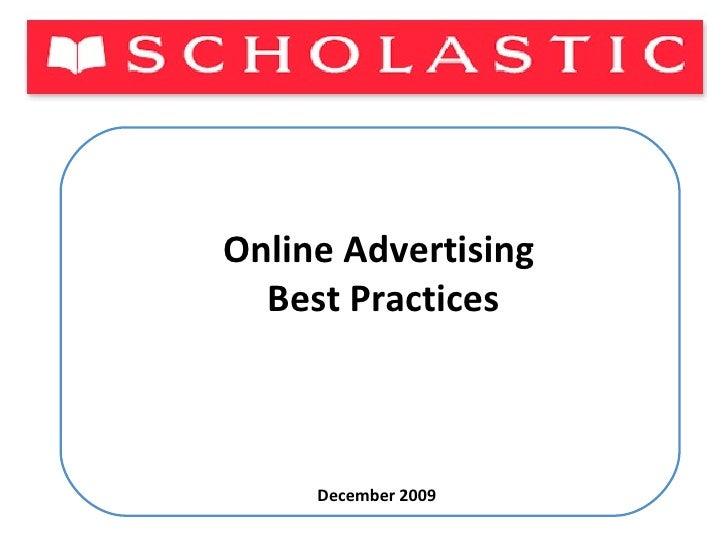 Online Advertising  Best Practices December 2009