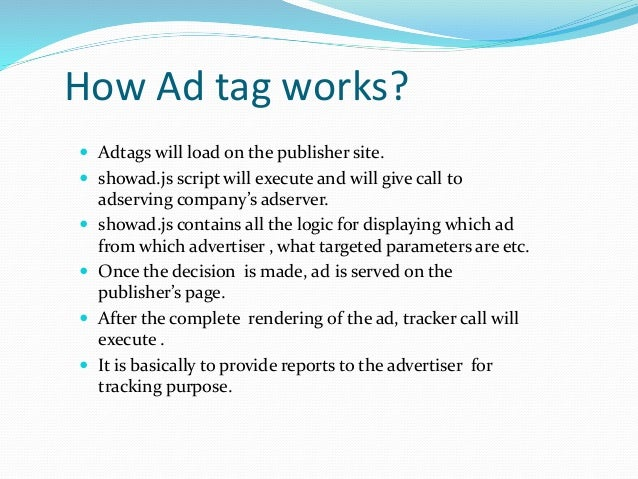 Ad Server  Stores advertisements used in online marketing and delivers them to website visitors.  Ad server functionalit...