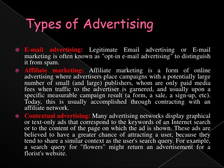 types of electronic media advertising