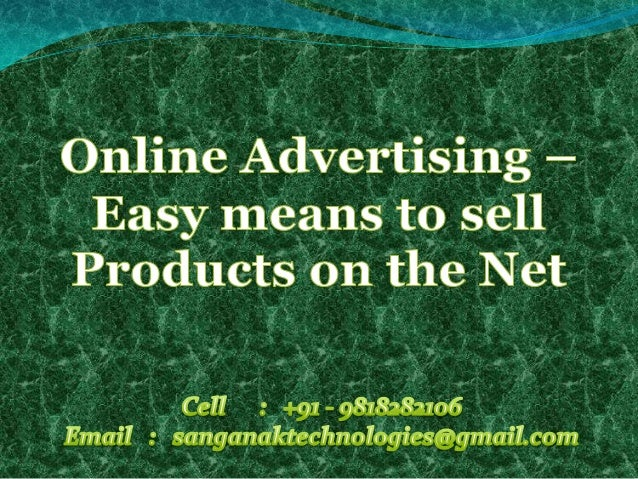 Online advertisement is an act of publicizing any venture by the use of the internet thatimparts marketing strategies to d...