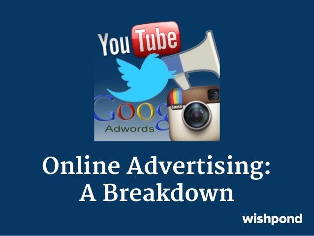 Online Advertising: A Breakdown