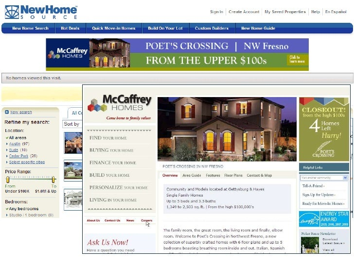 Online advertising for home builders for Online home builder