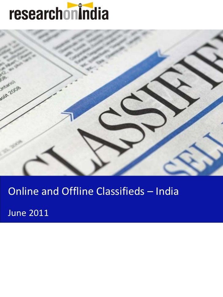 OnlineandOfflineClassifieds– IndiaJune2011