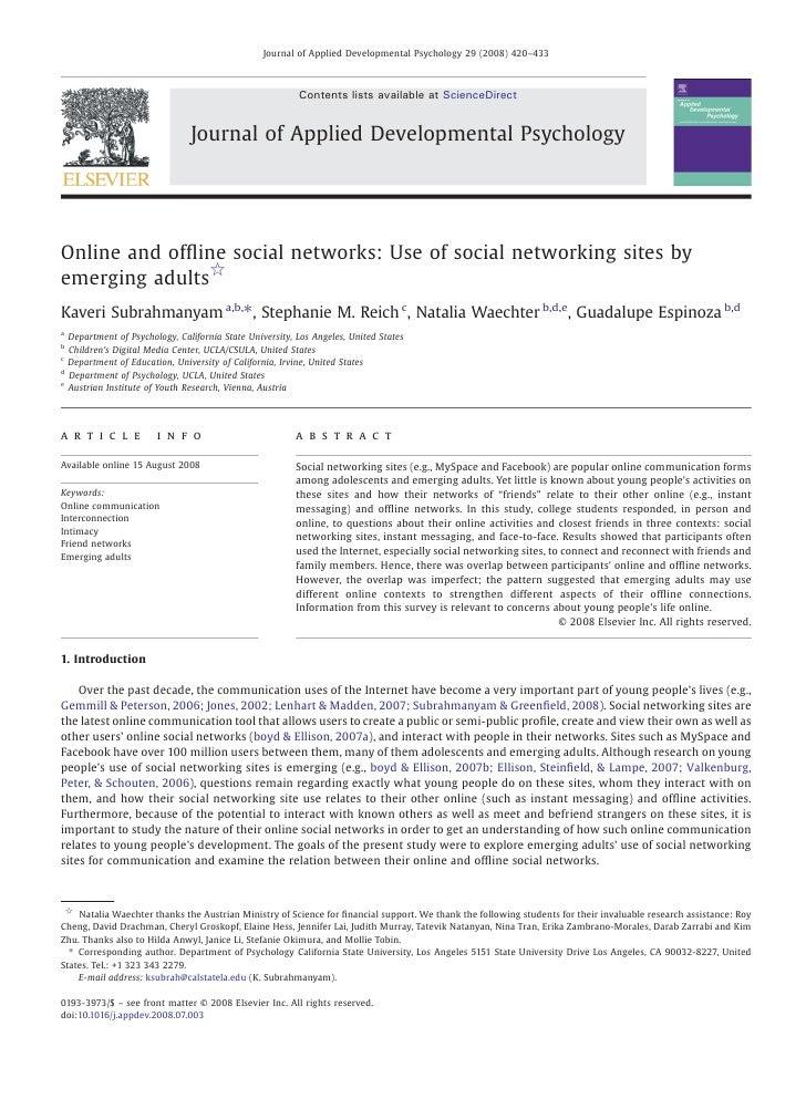 Journal of Applied Developmental Psychology 29 (2008) 420–433                                                           Co...