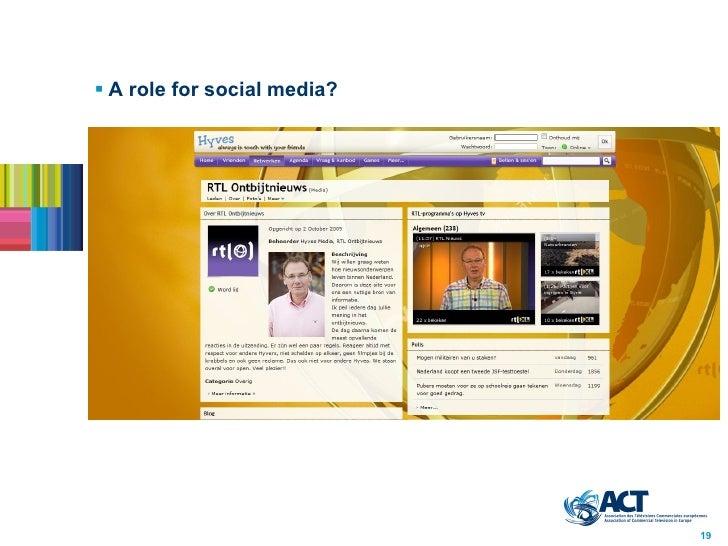 <ul><li>A role for social media? </li></ul>19