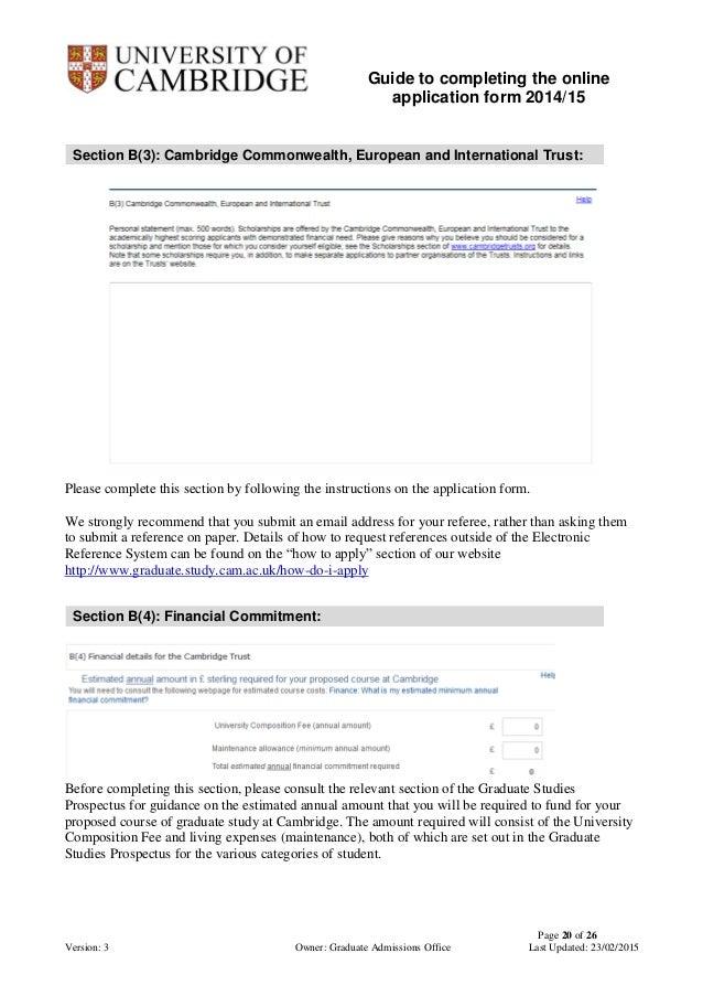University Of Cambridge Online Graduate Admission