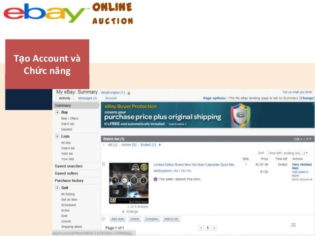 online auction - ebay essay On the ebay auction web site, the online auction format is a type of selling  format where a seller lists an item for a set amount of time and buyers must place  a.