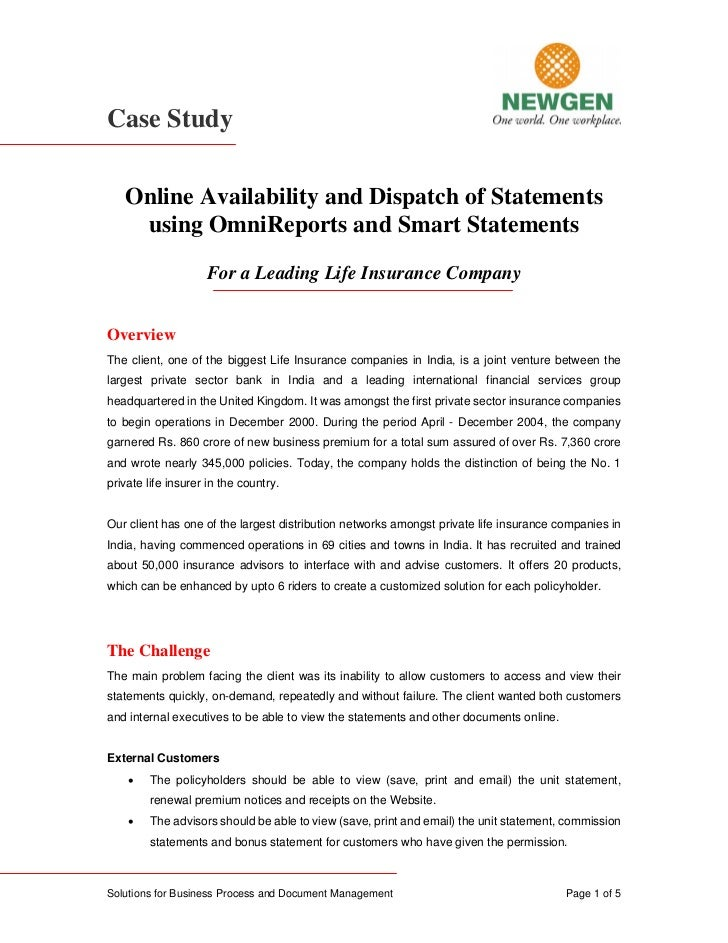 Online availability and dispatch of statements using omni reports and smart statements