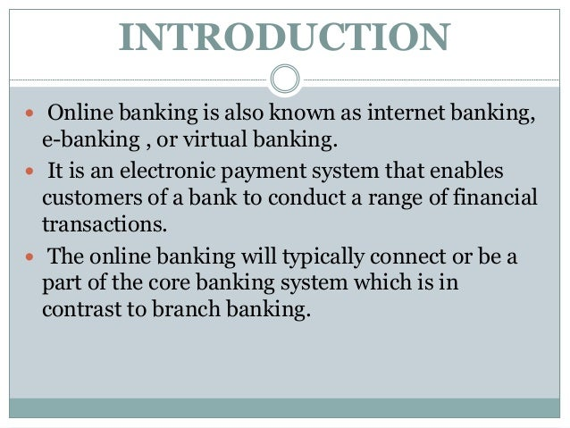 Online banking Slide 3