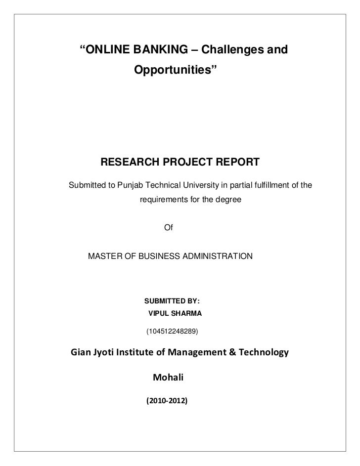 master thesis on internet banking