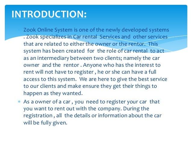 zook car rental system project. Black Bedroom Furniture Sets. Home Design Ideas
