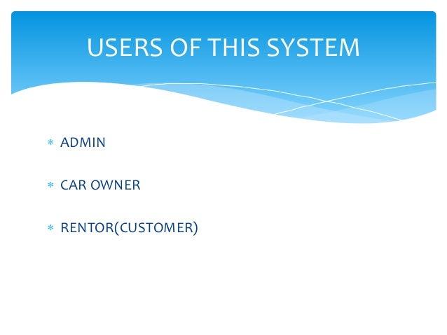 Car Rental System Problem Statement