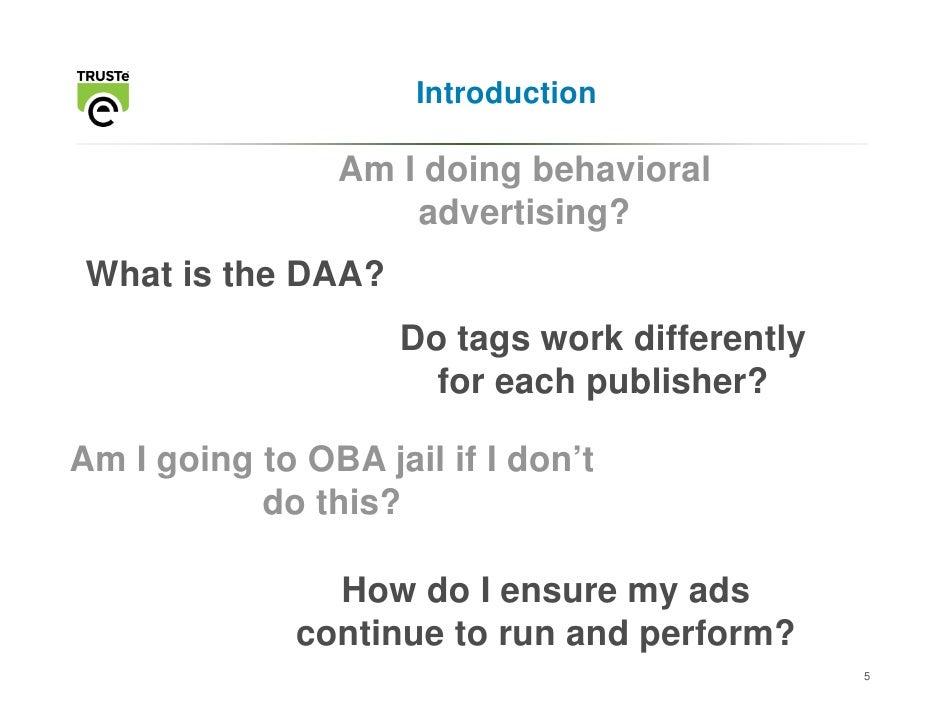 Online behavioral targeting essay
