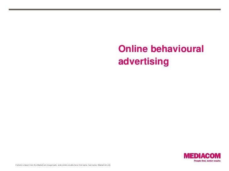 Online behavioural                                                                                                        ...