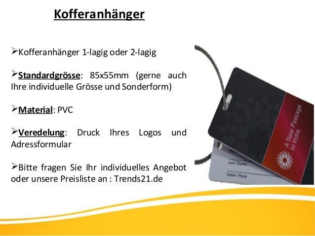 Kofferanhänger Kofferanhänger 1-lagig oder 2-lagig Standardgrösse: 85x55mm (gerne auch Ihre individuelle Grösse und Sond...