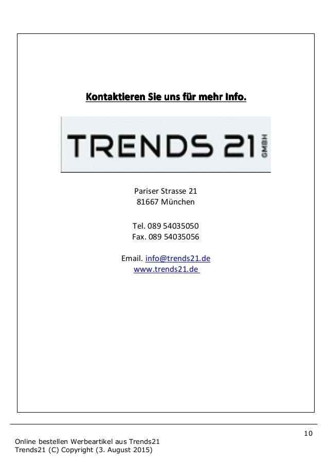 Online bestellen werbeartikel aus trends21