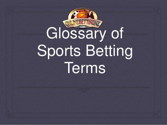 Sports gambling terminology casino game online for fun