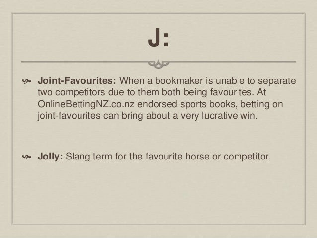 Sports betting terms slang dictionary horse spread betting explained